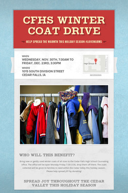 CFHS WINTER COAT DRIVE