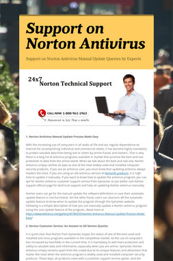 Support on Norton Antivirus