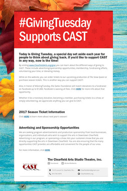 #GivingTuesday Supports CAST