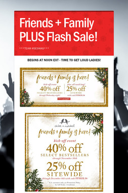 Friends + Family PLUS Flash Sale!