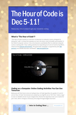 The Hour of Code is Dec 5-11!