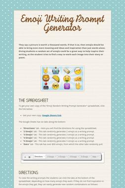 Emoji Writing Prompt Generator