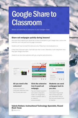 Google Share to Classroom
