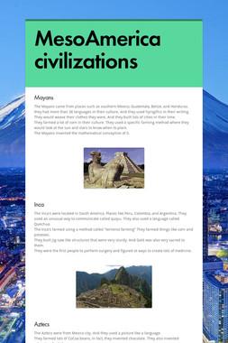 MesoAmerica civilizations