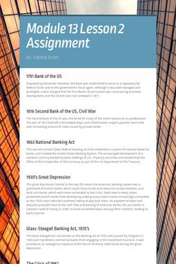 Module 13 Lesson 2 Assignment