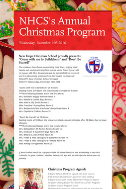 NHCS's Annual Christmas Program
