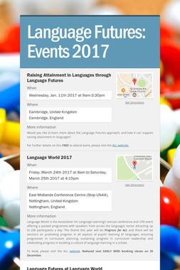 Language Futures: Events 2017