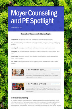 Moyer Counseling and PE Spotlight