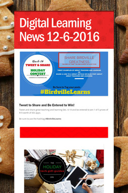 Digital Learning News 12-6-2016
