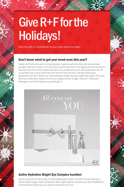 Give R+F for the Holidays!