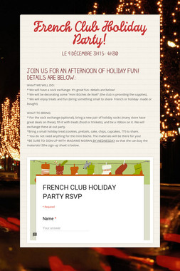 French Club Holiday Party!