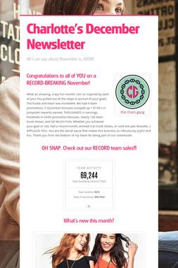 Charlotte's December Newsletter