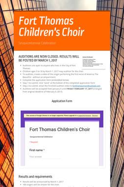 Fort Thomas Children's Choir
