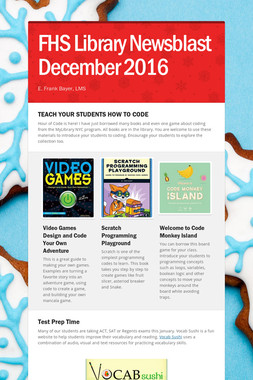 FHS Library Newsblast December 2016