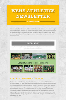 WSHS Athletics Newsletter