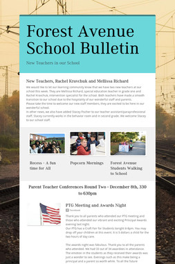 Forest Avenue School Bulletin