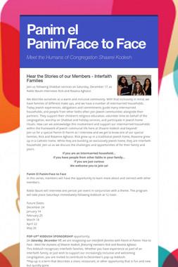 Panim el Panim/Face to Face