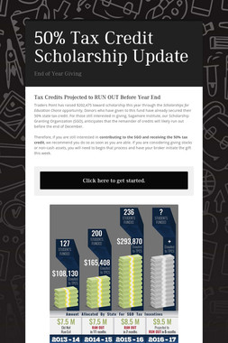 50% Tax Credit Scholarship Update