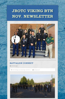 JROTC Viking Btn Nov. Newsletter