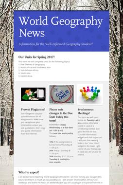 World Geography News