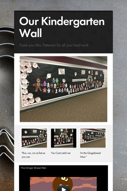 Our Kindergarten Wall