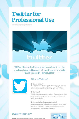 Twitter for Professional Use