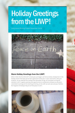 Holiday Greetings from the LIWP!