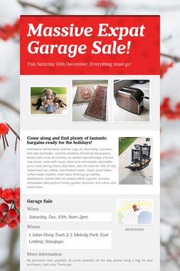 Massive Expat Garage Sale!
