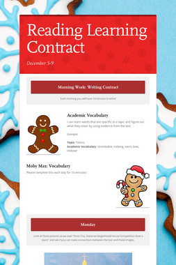 Reading Learning Contract