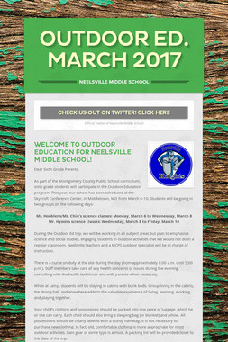 Outdoor Ed. March 2017