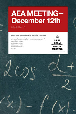 AEA MEETING--December 12th