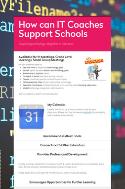 How can IT Coaches Support Schools