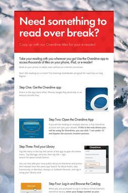 Need something to read over break?