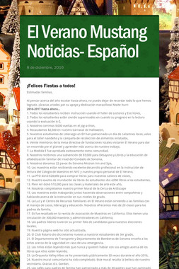 El Verano Mustang Noticias- Español