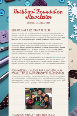 Parkland Foundation eNewsletter