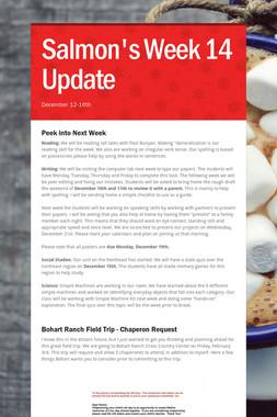 Salmon's Week 14 Update