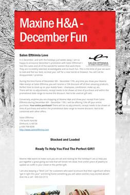 Maxine H&A - December Fun