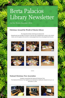 Berta Palacios Library Newsletter