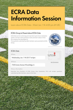 ECRA Data Information Session