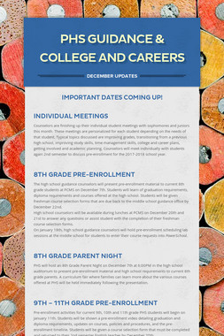 PHS Guidance & College and Careers