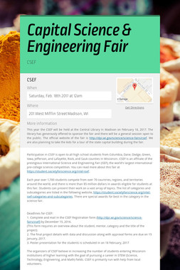 Capital Science & Engineering Fair