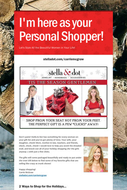 I'm here as your Personal Shopper!