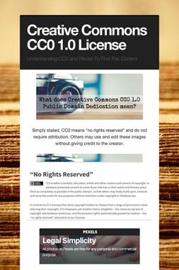 Creative Commons CC0 1.0 License