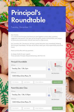 Principal's Roundtable