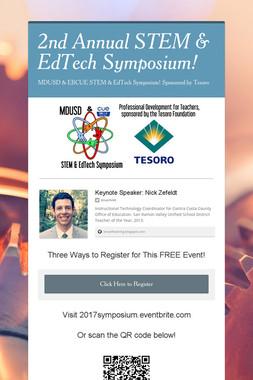 2nd Annual STEM & EdTech Symposium!