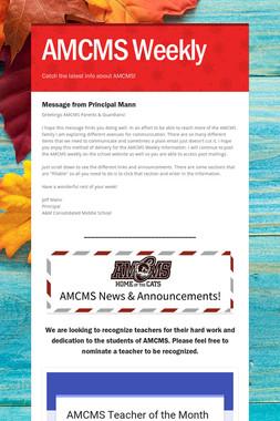 AMCMS Weekly