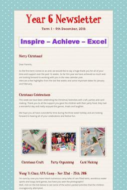 Year 6 Newsletter