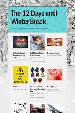 The 12 Days until Winter Break
