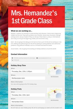 Mrs. Hernandez's 1st Grade Class