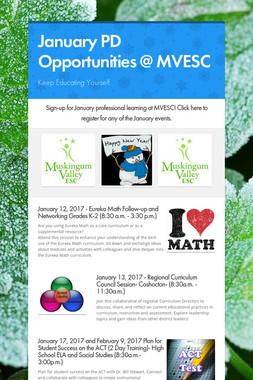 January PD Opportunities @ MVESC